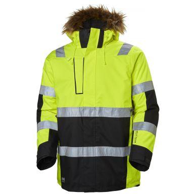Helly Hansen Workwear Alna Vinterparkas varsel, gul/svart