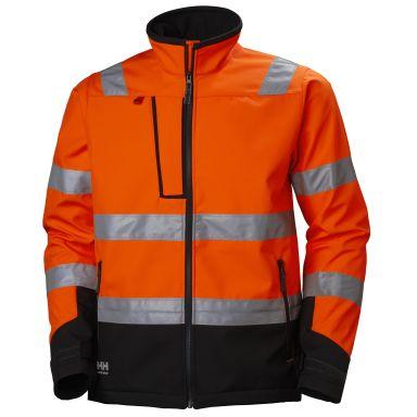 Helly Hansen Workwear Alna Softshelljacka varsel, orange/svart