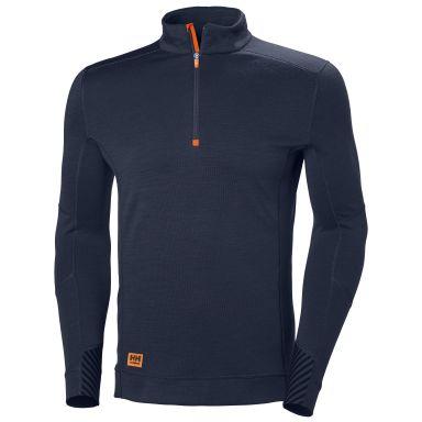H/H Workwear Lifa MAX Undertröja marinblå, kort dragkedja