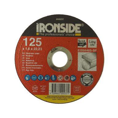 Ironside 200237 Kapskiva 125 mm, F41, EI20, Inox