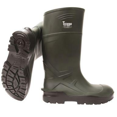 Techno Boots 04 Gummistövel grön, PU