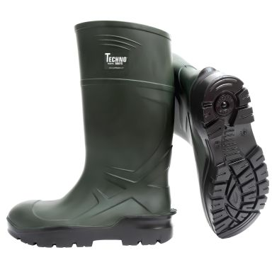 Techno Boots S5 Skyddsstövel grön, PU