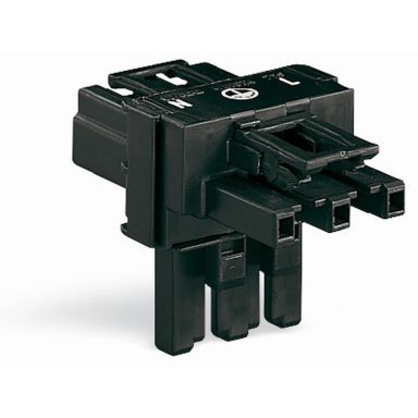 Wago 770-615 Fördelningsblock 1xHA/2xHO, låsning, svart