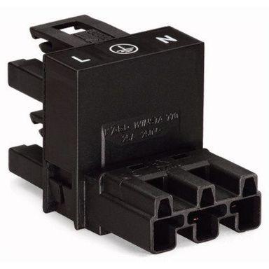 Wago 770-634 Distribusjonsblokk 1 x HA/2 x HO, svart