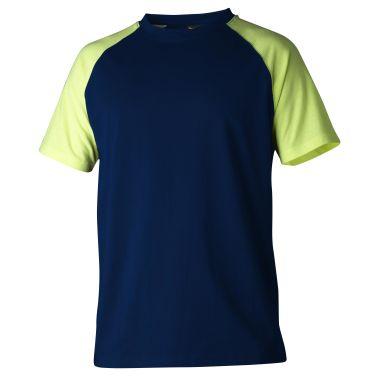 Top Swede 225 T-shirt marinblå/gul
