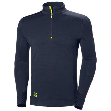 H/H Workwear Lifa Undertröja marinblå, kort dragkedja