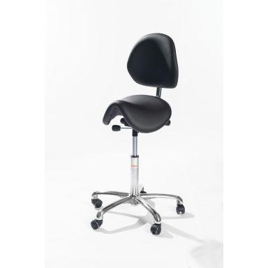 Global Stole Dalton Alu Sadelstol med hjul och ryggstöd, 580-770 mm