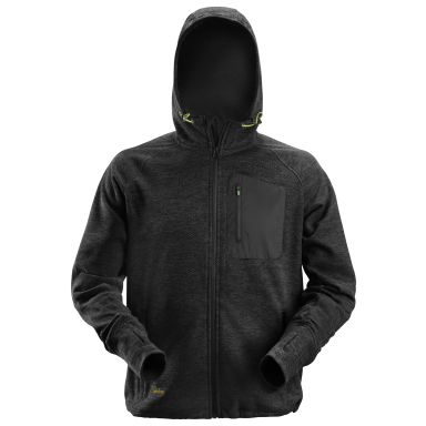 Snickers 8041 FlexiWork Hettegenser fleece, svart