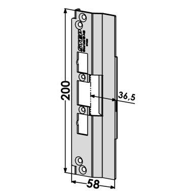STEP ST4028 Stolpe för Schüco profilsystem