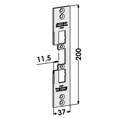 STEP ST4031 Stolpe för Wicona profilsystem