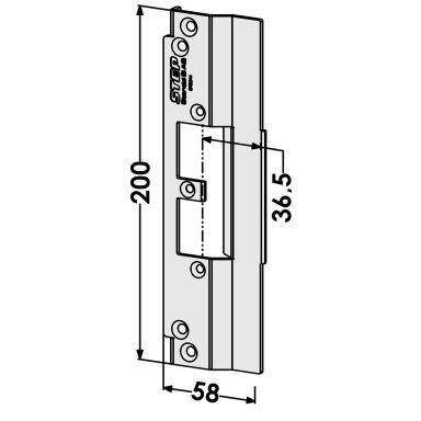 STEP ST9514 Stolpe för Schüco profilsystem