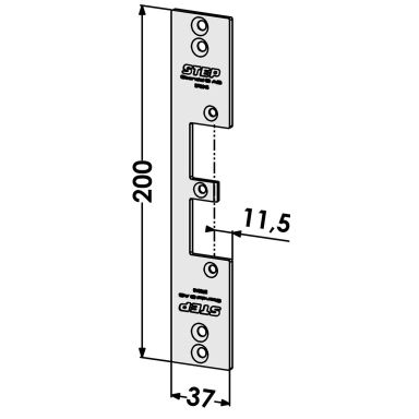 STEP ST9516 Stolpe för Wicona profilsystem