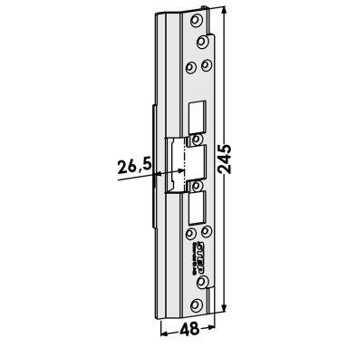 STEP ST6516 Tolppa Schüco-profiilijärjestelmälle