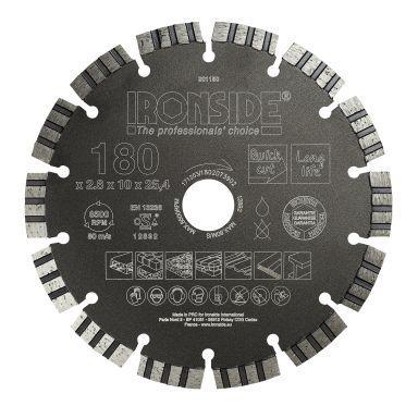Ironside 201180 Diamantkapskiva universell, 180x25,4x2,6 mm