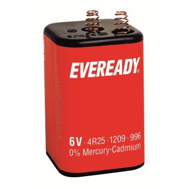 EVEREADY PJ996/4R25 Högeffektsbatteri med fjädrar, 6 V