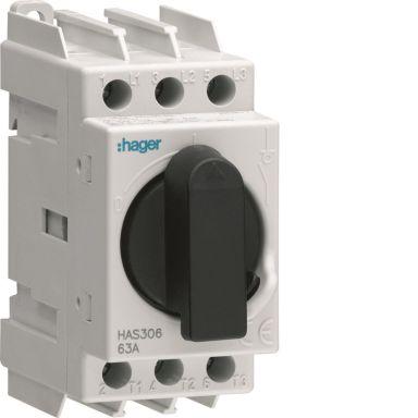 Hager HAS306 Hovedbryter 3-polet, 63 A
