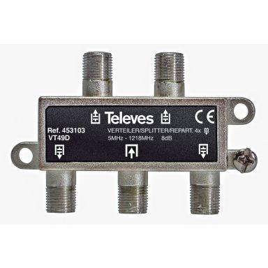 Televes VT49D Fördelare 5-1218 MHz, F-anslutning