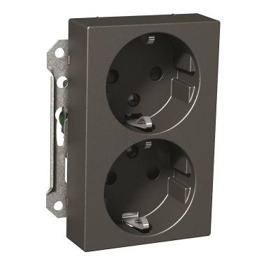 Schneider Electric Exxact Vegguttaksinnsats 2-veis, 16 A, hurtigkobling