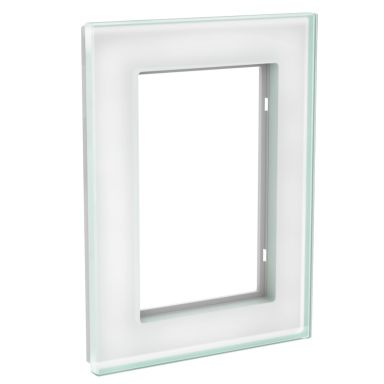 Schneider Electric WDE004034 Täckram 2-vägs, glas, solid, vit