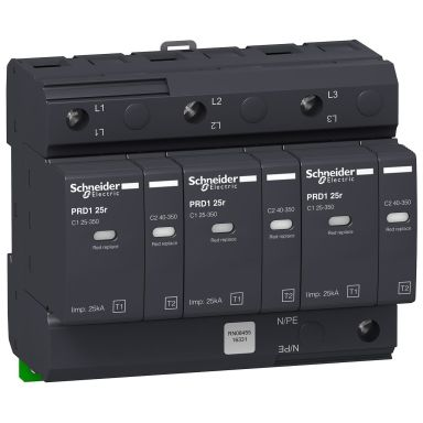 Schneider Electric 16331 Ylijännitesuoja hälytyskoskettimella, PDR1 25R