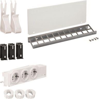 Hager UM00L6 Uttaksboks boks + brønner + panel