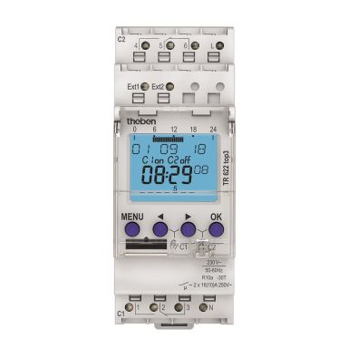 Theben 6220130 Kopplingsur 230V, växlande kontakt