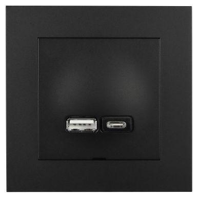 Elko EKO07074 Ladduttag USB A+C Plus