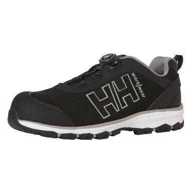 H/H Workwear Chelsea Evo BOA Wide Skyddssko S3, svart/grå, komposithätta