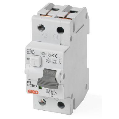 Garo RCBO GS C10A 2P Personskyddsautomat 2-polig, C-karakteristik