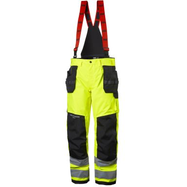 Helly Hansen Workwear Alna Shell Construction Kuorihousut huomiotakki, keltainen