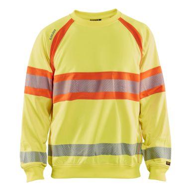 Blåkläder 8828-1974 Limited Edition Sweatshirt varsel, gul/orange