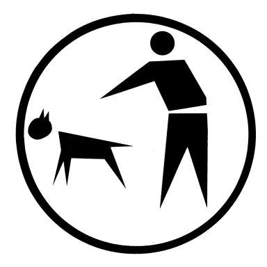 Hags 8005387 Dekal för hundlatrin