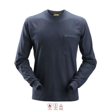 Snickers 2460 ProtecWork T-shirt marinblå, långärmad