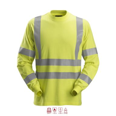 Snickers 2461 ProtecWork T-shirt varsel, gul, långärmad