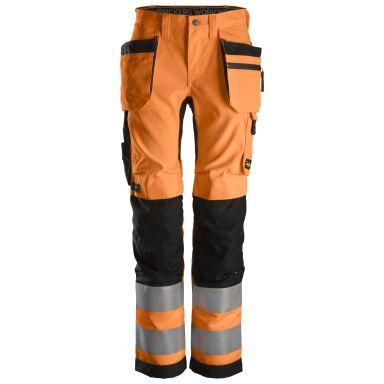 Snickers 6730 AllroundWork Arbeidsbukse varsel, oransje/svart