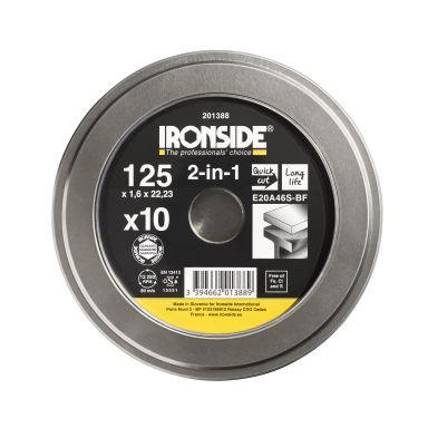 Ironside 201388 Kapskiva 125 mm, 10-pack