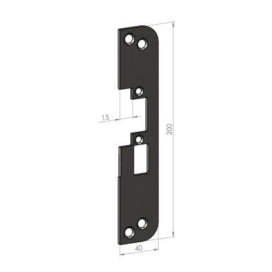 SAFETRON SA50-15 Monteringsstolpe plan