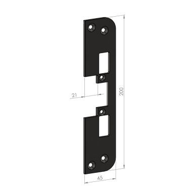SAFETRON SA87-21 Monteringsstolpe plan