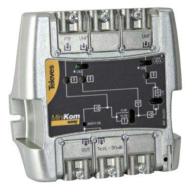 Televes 5625 Utgångsförstärkare med EasyF, FM-VHF-UHF
