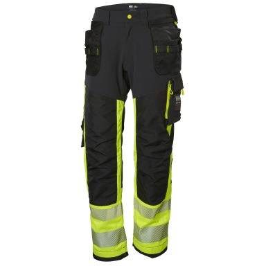 H/H Workwear ICU Midjebyxa varsel, svart/gul