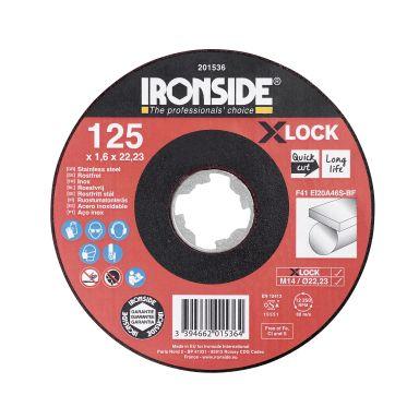 Ironside 201536 Kapskiva 125 cm, X-LOCK, för rostfritt stål, F41