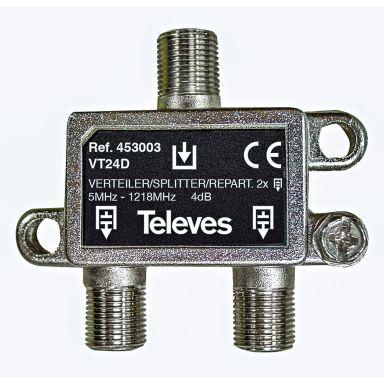 Televes VT24D Fördelare 5-1218 MHz, F-anslutning