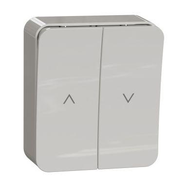 Schneider Electric WDE015554 Sjalusibryter utenpåliggende, hvit