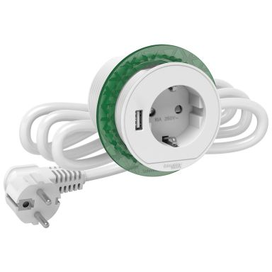 Schneider Electric XS USB-A Unica Bordsenhet inbyggd, 60 mm