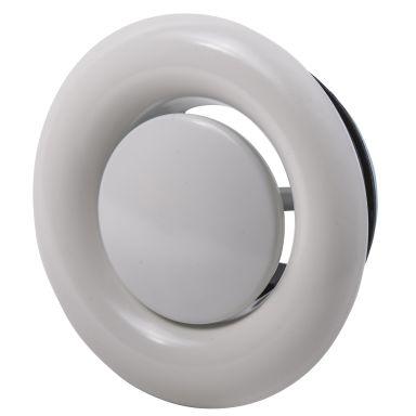 Flexit 09713 Frånluftsventil vit, 100 mm