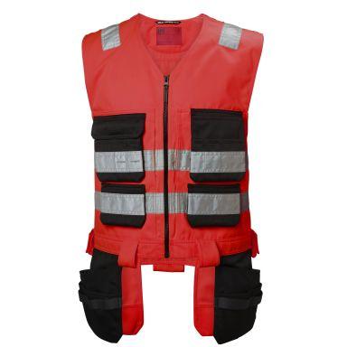 H/H Workwear Alna Väst varsel, röd/svart
