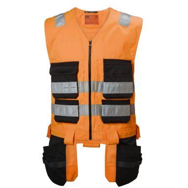 H/H Workwear Alna Väst varsel, orange/svart