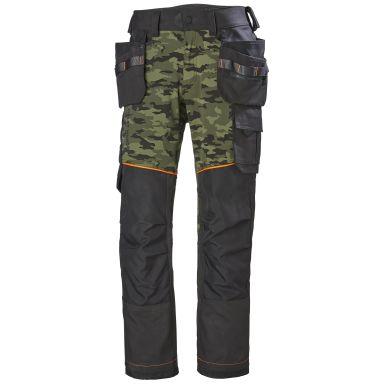 H/H Workwear Chelsea Evolution Midjebyxa camouflage/svart