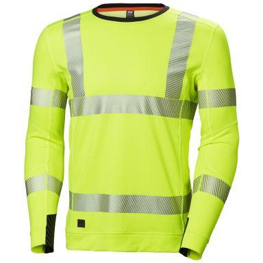 H/H Workwear Lifa Active Undertröja varsel, gul, rundhalsad