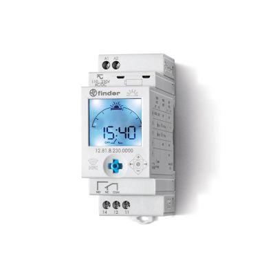 Finder 128182300000 Koblingsur 16A, 230V (AC), 1-vxl